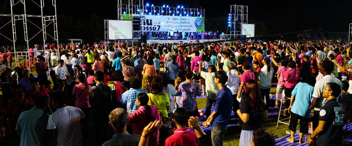 Фестиваль Иисуса в Рой Эт (Roi Et) Таиланд