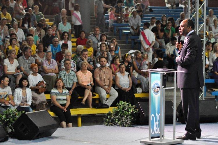 Pastor spoke of God`s visitation.