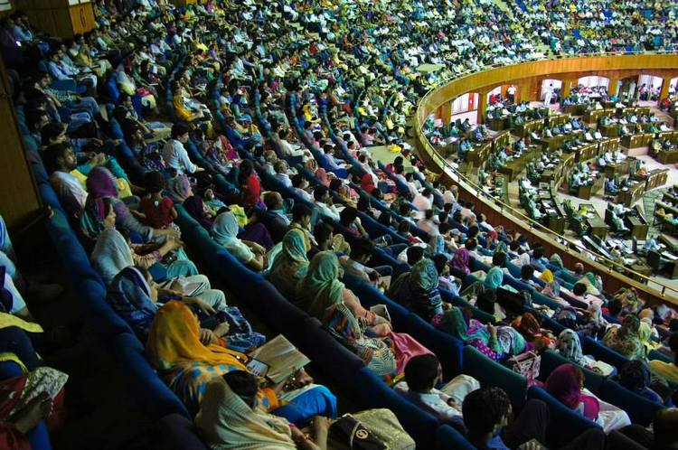 The central arena of the multimillion city fully filled with the ministers of the Gospel from all over Pakistan