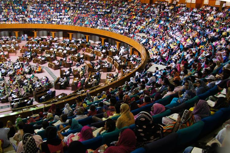 Jinnah convention centre owercrowded by pastors and leaders who are hungry for God