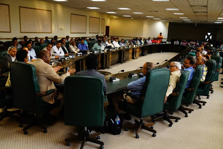 A special business meeting for more than 50 businessmen from different cities of Pakistan