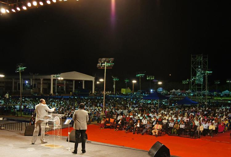 First day of Jesus Festival in India, Bengaluru