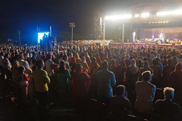 Завершающий день Фестиваля Иисуса в Индии, Бангалор