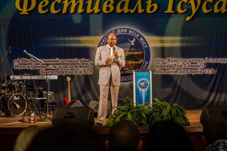 """The Power of God has no limits and this power is here tonight to touch every life"" – Pastor Henry Madava was preaching."