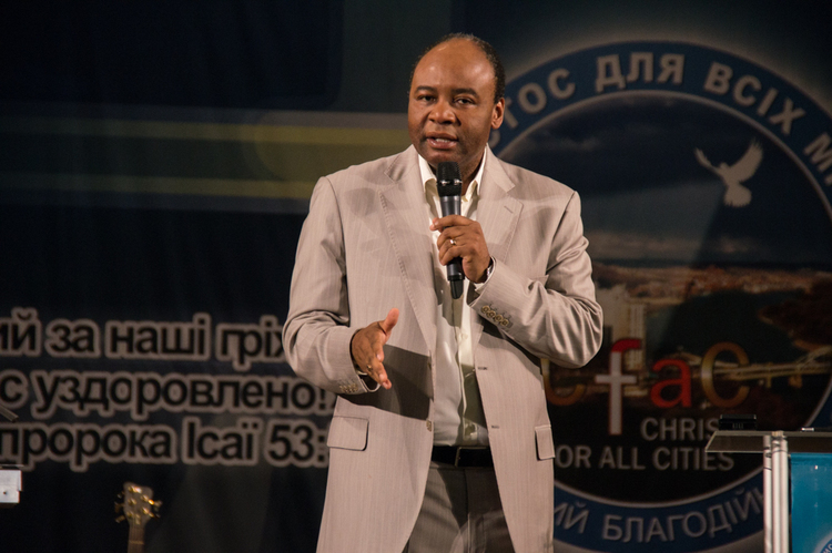 Pastor Henry Madava was preaching about the God's hand upon our lives