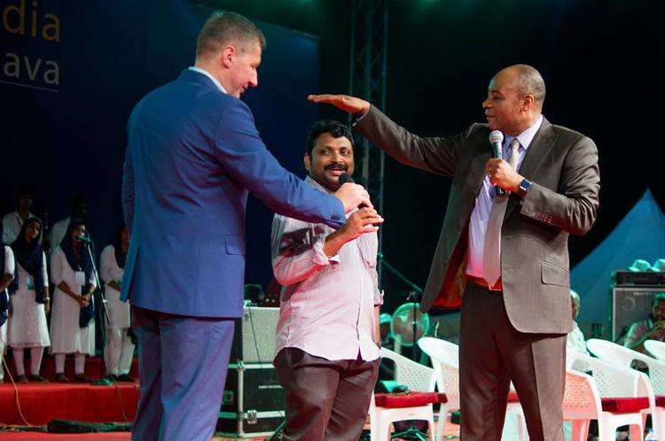 The evangelist and minister of the local church was healed of back pain!