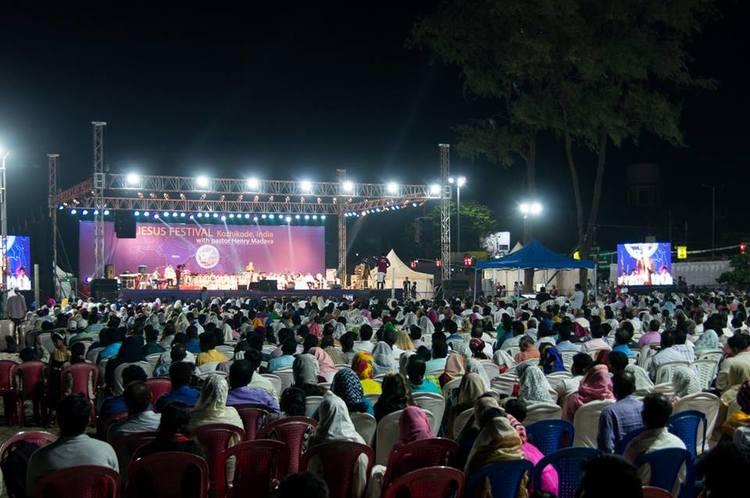Завершающее служение Фестиваля Иисуса в Кожикоде (Каликуте), Индии.